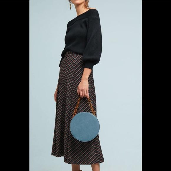 Anthropologie Dresses & Skirts - NWT Anthropologie Maeve Chevron Shine Skirt size l